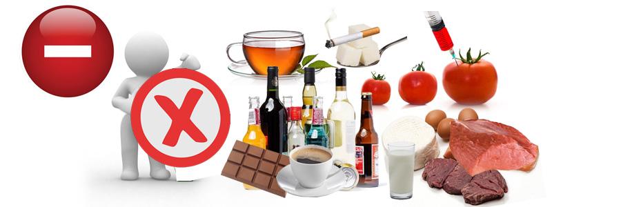 Negativa (-), toksini, šećer, kuhinjska so, meso, mleko, aditivi