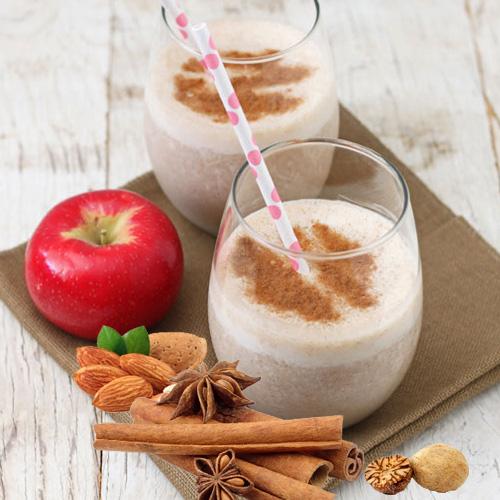 smuti smoothie veganski obrok - jabuka badem cimet