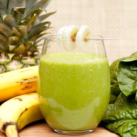 Banana ananas green blend smuti smoothie veganski obrok