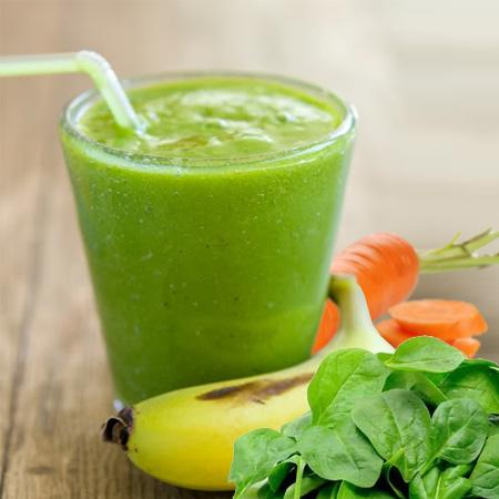 zeleni banana doručak smuti smoothie veganski obrok