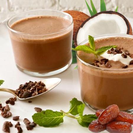 kakao kokos mint smuti smoothie veganski obrok
