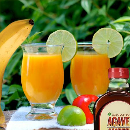 mango lime hot smuti smoothie veganski obrok