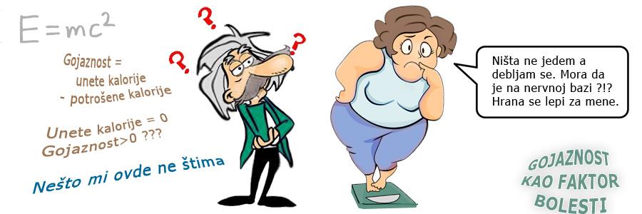 Gojaznost kao faktor bolesti - Veća telesna težina je veći rizik za zdravlje i podstrekač je dijabetesa, tumorskih i ostalih oboljenja.