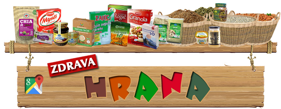 Zdrava hrana - ponuda zdrave hrane sa google lokacijom. Ukoliko se bavite prodajom zdrave hrane predstavite se na AX Mapi