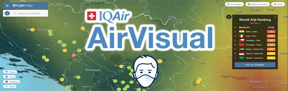 Zagađenost vazduha možete proveriti na sajtu Air Visual